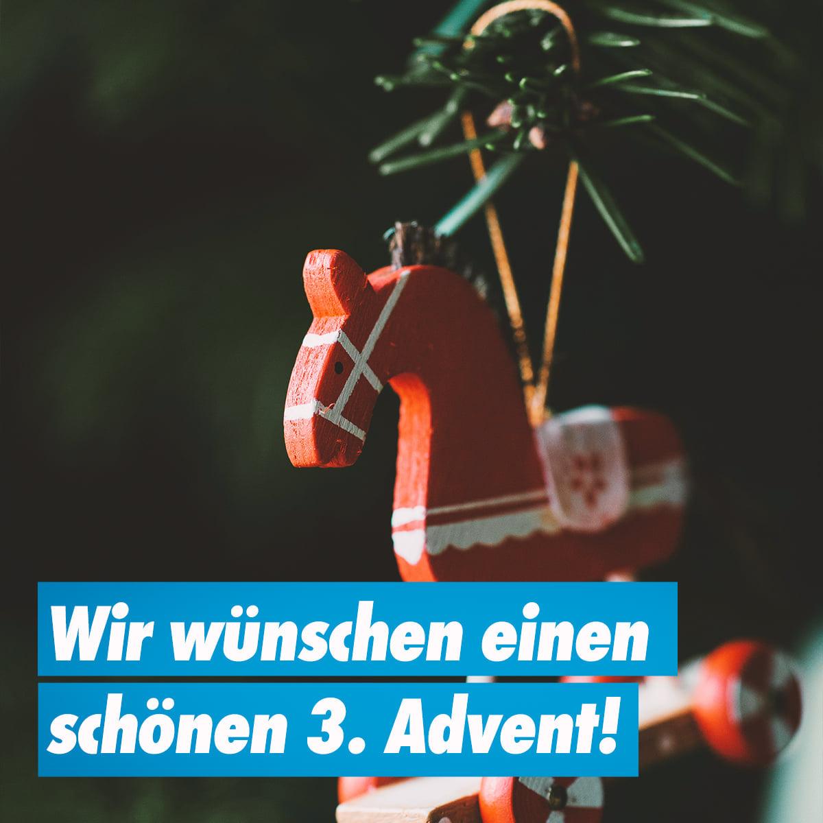 Wir wünschen einen schönen 3. Advent!